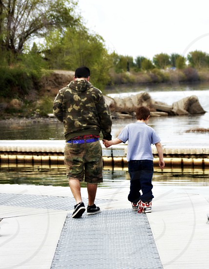 Father and son. Richland wa park photo