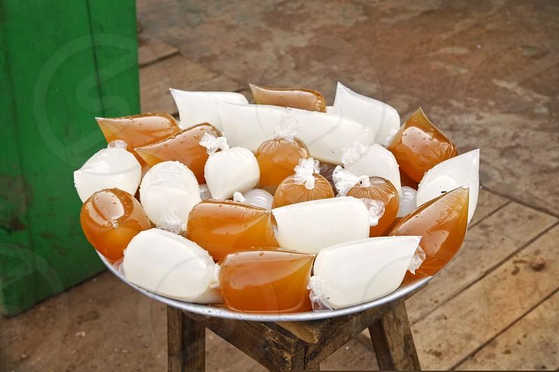 Color street food in Ghana photo