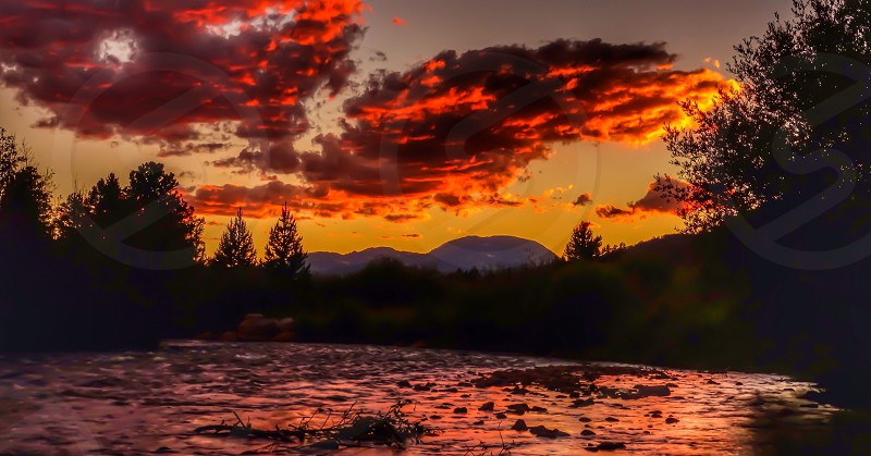Sunset on the river photo