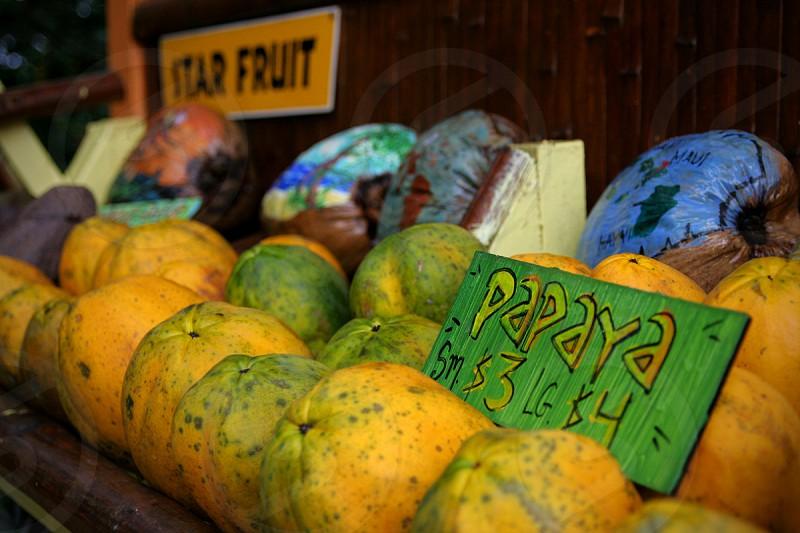 yellow papaya  photo