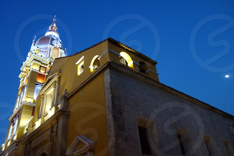 The Cartagena Cathedral in Cartagena Colombia                          photo