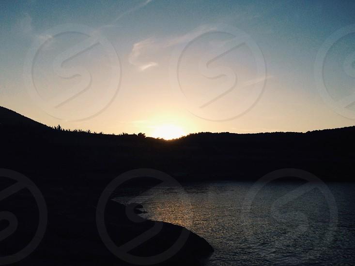 Sunset beach sea photo