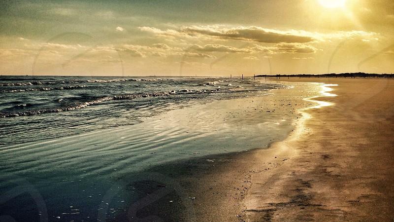 Jersey Shore sunset beach photo