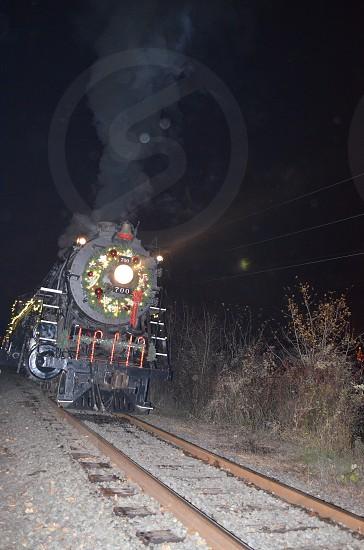 Holiday Express Train Portland Oregon Night photo