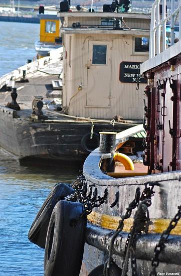 tugboats in NYC harbor photo