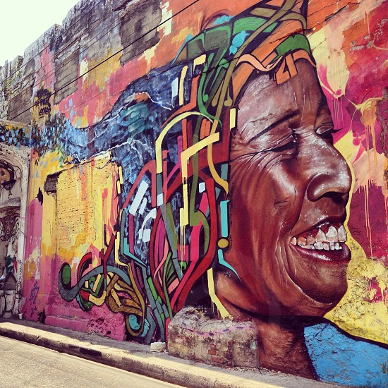Cartagena de Indias street art (artist: unknown) photo