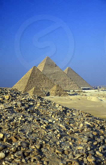 the pyramids pf giza near the city of Cairo the capital of Egypt in north africa photo