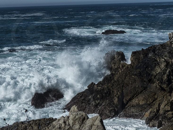 oceansprayrockspacific ocean photo