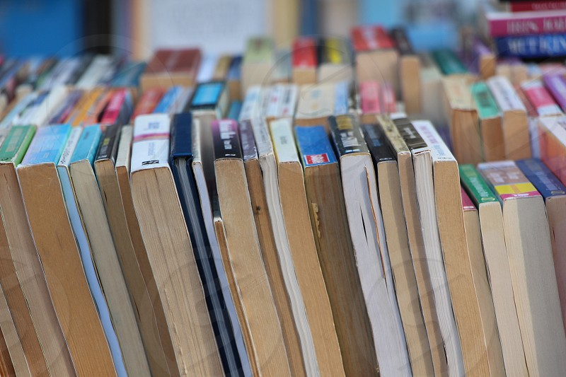 books book closeup macro day street market old secondhand selling buying photo