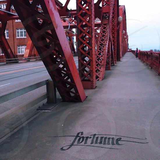 Broadway bridge Portland Oregon. photo