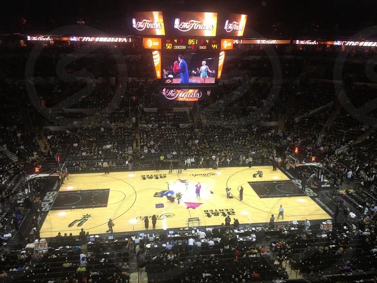 NBA Finals pregame warm up in San Antonio photo