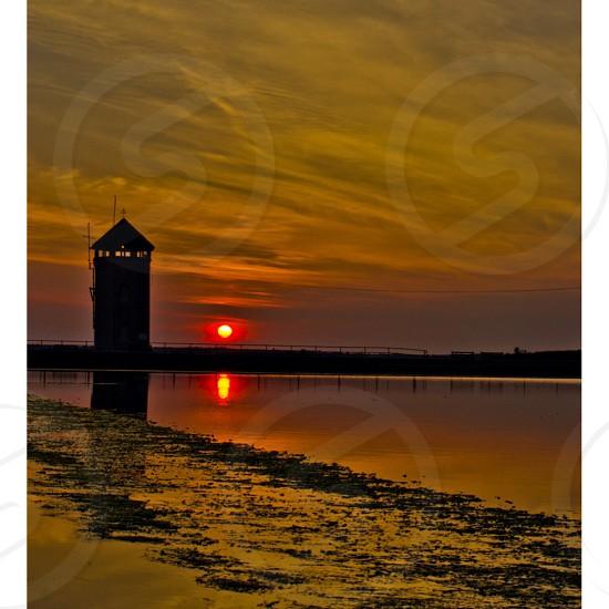 Brightlingsea at sunset  photo