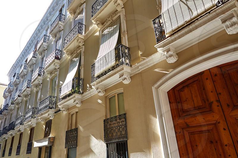 Valencia barrio del Carmen street facades in Spain photo