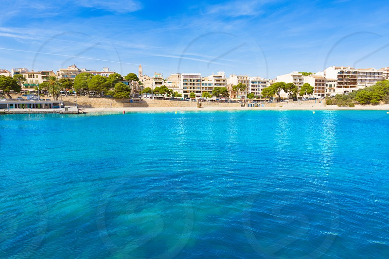 Majorca Porto Cristo beach in Manacor of Mallorca Balearic island at spain photo