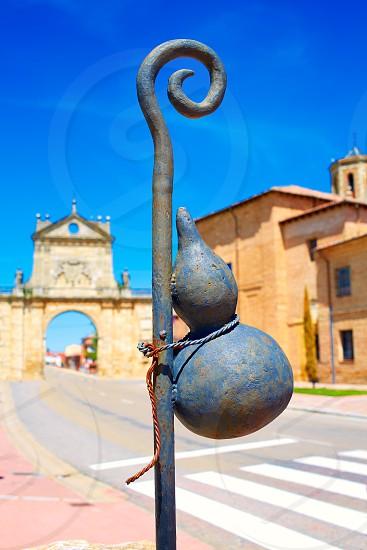 Sahagun middle center of Saint James Way San Benito arch in Leon Spain photo