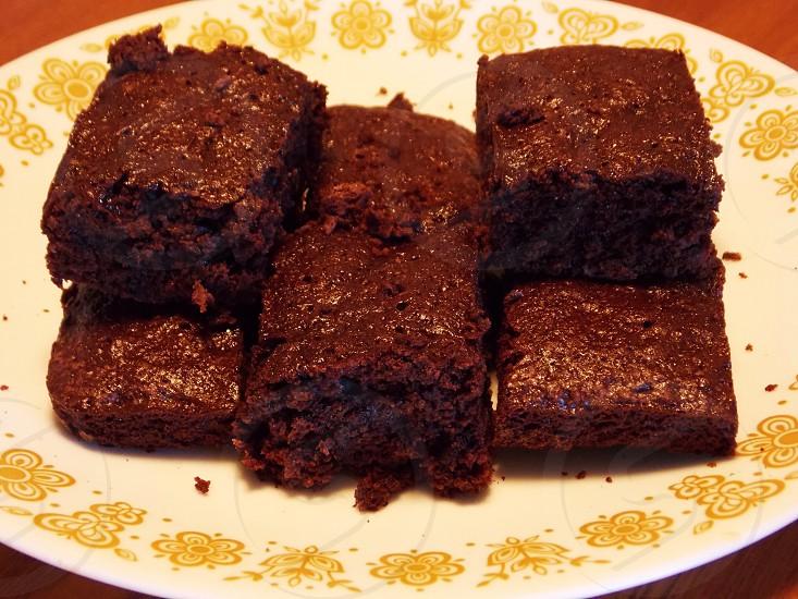 Chocolate fudge brownies photo