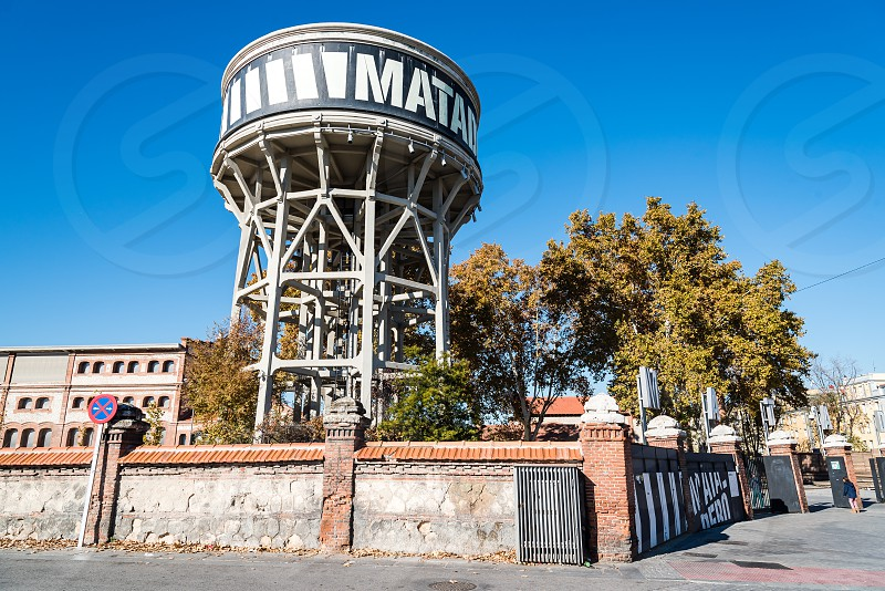 Outdoor view of Matadero Art Center in Madrid. The slaughterhouse and livestock market of Arganzuela has been transformed into a contemporary art center photo