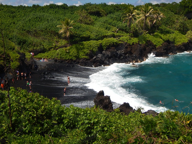 discover hidden black sand beaches photo
