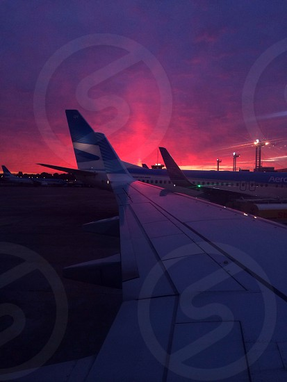 Sunset showing off. Buenos Aires - Bariloche photo