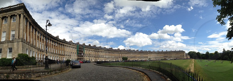 The crescent in the town of Bath photo
