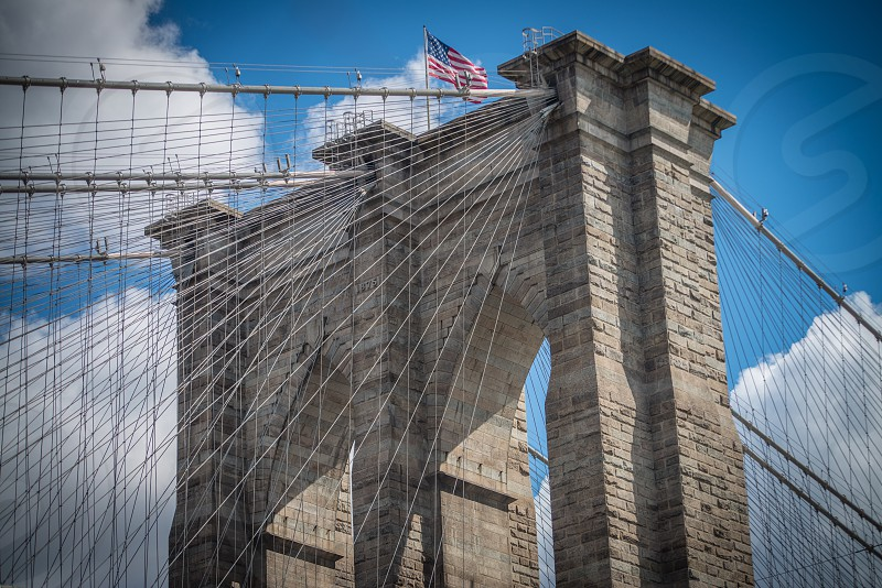 Brooklyn Bridge on crisp spring day photo