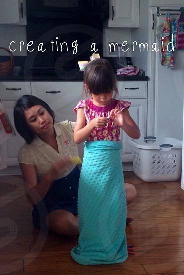 creating a mermaid screenshot photo