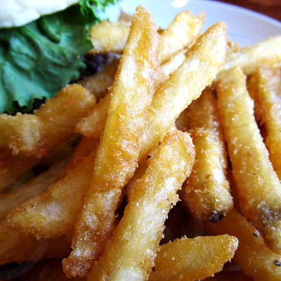 Beer battered French fries photo