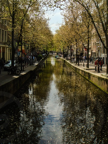 Random canal in Amsterdam Netherlands photo