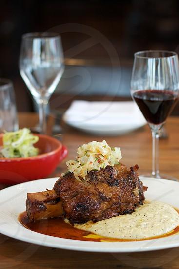 A Mano Philadelphia – braised pork shank w/ pickled fennel & taleggio polenta photo