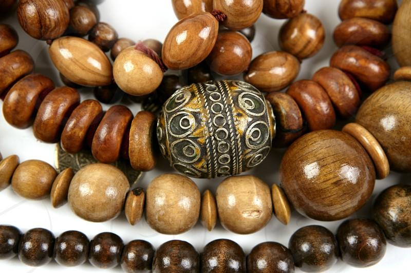 African wooden handcraft jewellery texture necklaces photo