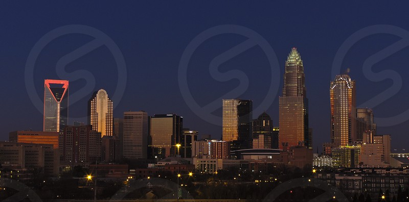 Morning Skyline. Charlotte NC photo