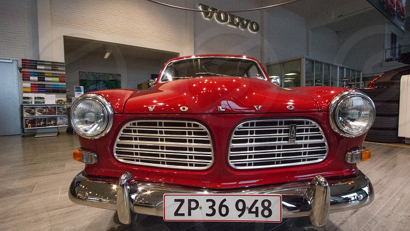 Old Volvo Amazon! Red Pop Of Color!  photo