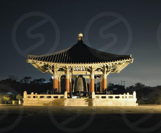 Korean bell Asian friendship landmarks San Pedro  photo