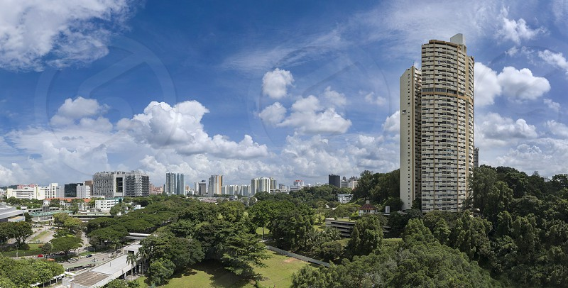 Panorama of Pearl Bank Apartment in Singapore photo