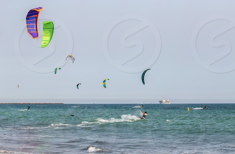 Kitesurfing in Long Beach CA photo