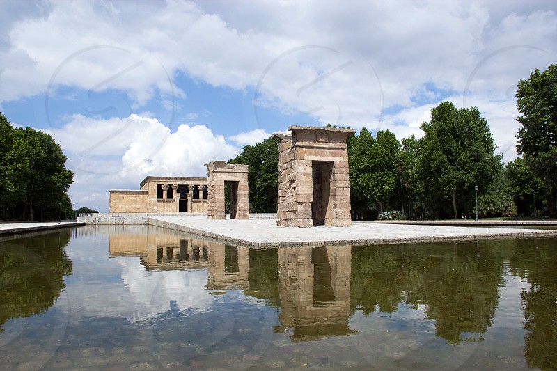 Madrid Tempio di Debod Riflesso photo