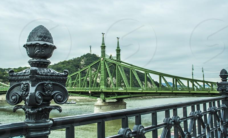Liberty bridge connect Buda with Pest on Danubio river #travel #budapest #danubio #connect photo