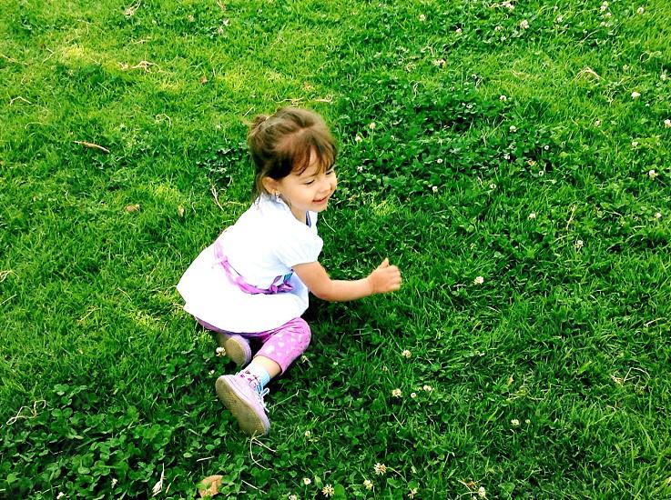 Little girl playing. photo