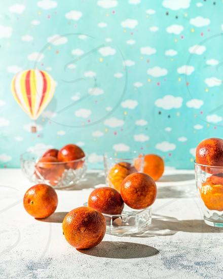 Fresh blood oranges photo