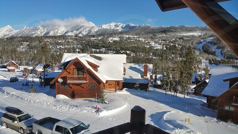 Big Sky Mt cabins near ski resort photo