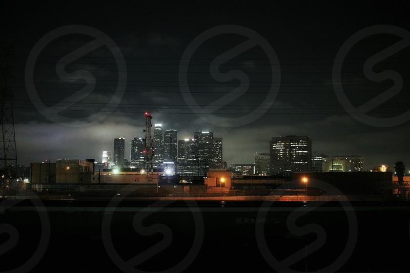 Los Angeles DTLA scenery landscape city night life skyscraper skyline California  photo