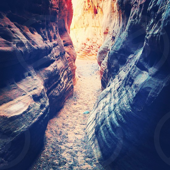 The white dome slot canyon from Valley of Fire State Park Nevada  photo