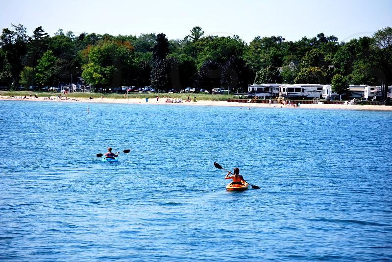Kayak on Tawas Bay ~Tawas Michigan photo