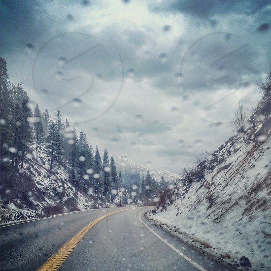 Winter Storms with Snow and Rain photo