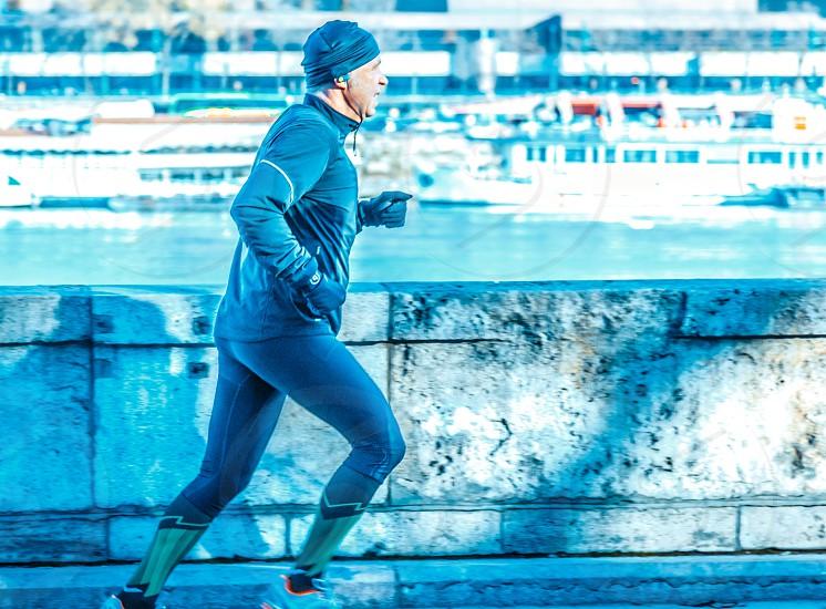 Man Runner Running Jogging photo