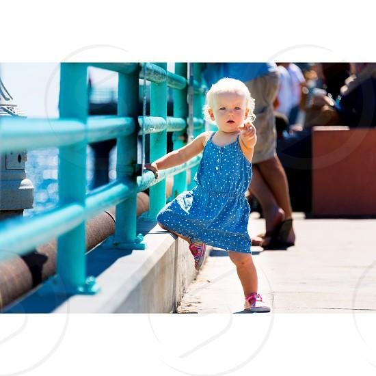 Ella on the pier  photo