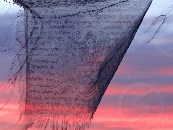 Peaceful Buddhist Sunset. photo