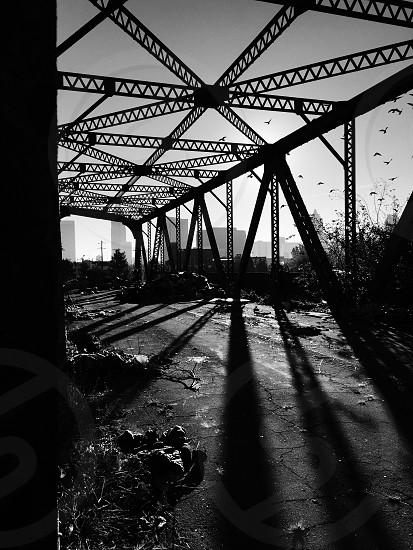 Bridge to nowhere full of shadows. Atlanta. photo