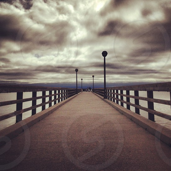 view of a pier path  photo