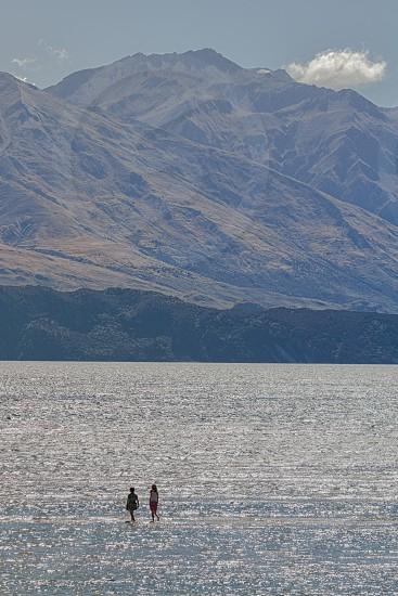 Walking on water photo